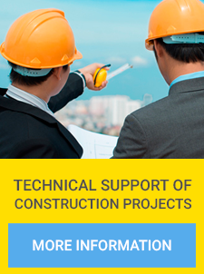 Technical support of construction projects